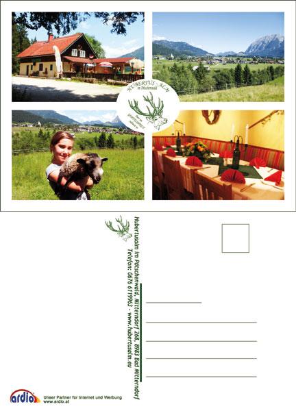 Postkarte Hubertusalm Bad Mitterndorf